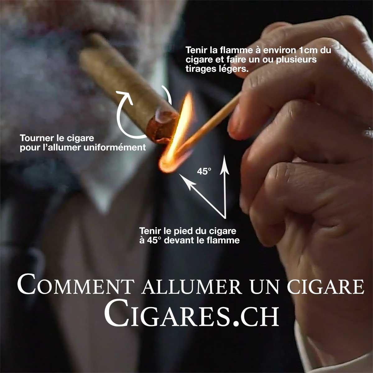 allumer un cigare avec une allumette