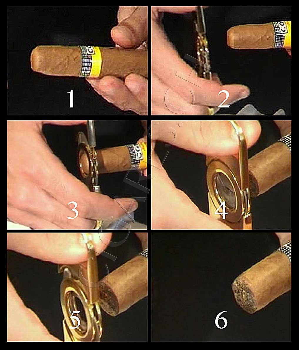 étapes pour couper un cigare