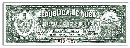 sceau garantie cigare cubain