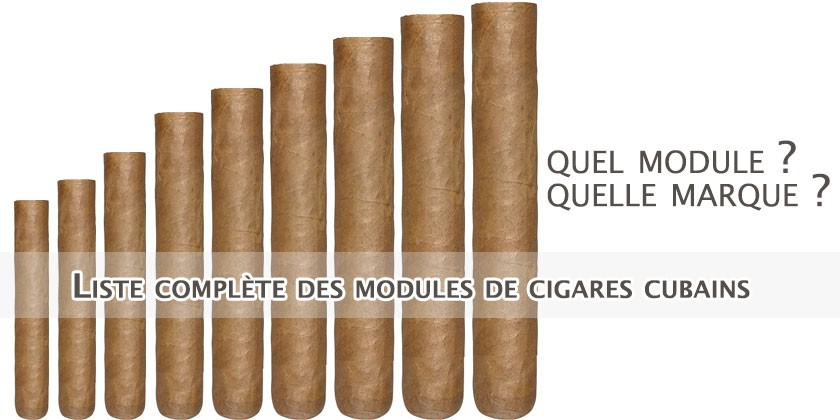 Tous les modules de cigares cubains